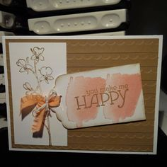 Happy Watercolor Stampin Up Card