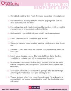 Checklist: Tips to Simplify Life