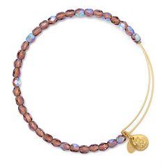 Amethyst Rock Candy Beaded Bracelet | Alex and Ani