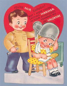 Barber Shop Vintage valentine 1940's