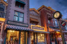"""""""Famous Facades"""" on Main Street USA  #Disneyland from Kevin Crone at www.toursdepartingdaily.com -  #toursdepartingdaily #disney"""