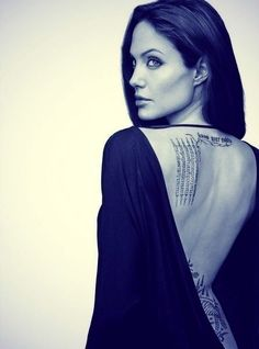 Probably the most famous tattooed actress Angelina Jolie - she had Billy Bob inked then laser removed OUCH