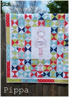 Pippa quilt kit from cinderberry stitches....Love this.