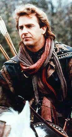 Kevin Costner as Robin Hood