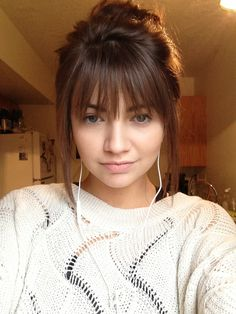 I think I might get bangs like these on my next trip to the hairdresser