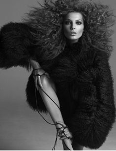 fashion editorial | ursula | hair | fur | fluffy | strong | posing | pout