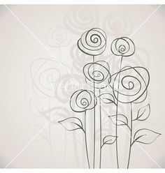 flower doodles - simple & whimsical