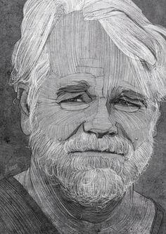 Philip Seymour Hoffman Portrait by Stavros Damos, via Behance