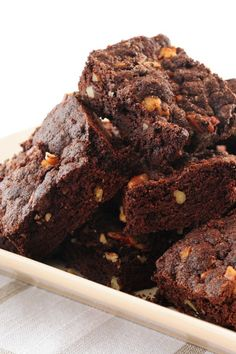 Outrageous Coffee Walnut Brownies #Dessert #Recipe