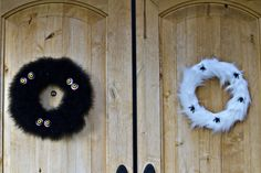 Two DIY Halloween Wreaths