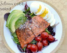 salmon cobb salad and a homemade balsamic vinaigrette!