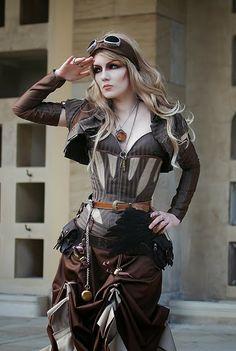 Steampunk Adventuress Cosplay steampunk fashion (women's clothing