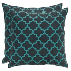 I pinned this Quatrefoil Pillow in Charcoal - Set of 2 from the Pillows Under $50 event at Joss and Main!