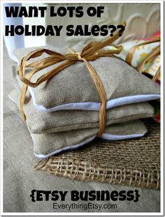 Holiday sales on Etsy can really make your year! There are a few things you can do to get your shop ready to make the most of the busy shopping season. Awesome sales don't just happen on their own…you have to be prepared.