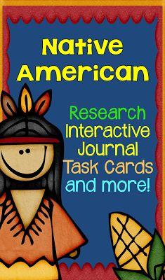task cards, nativ american, interactive journals, native americans, social studi