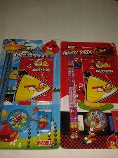 Que tal kits escolares para una fiesta de Angry Bird.