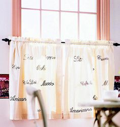 Embroidered Cafe Curtains