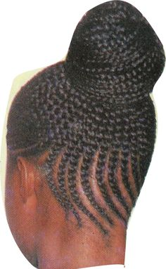 african braids picture cornrow hair braids bun updo hairstyle