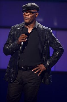 Host Samuel L Jackson speaks onstage during the 2012 BET Awards at The Shrine Auditorium on July 1, 2012 in Los Angeles, California.