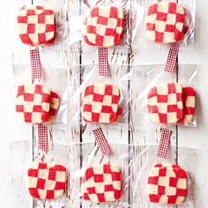 You will be so surpised at how easy our signature Red Plaid Cookies can be! Find the full recipe here: http://www.bhg.com/christmas/cookies/favorite-christmas-cookies-and-bars/?socsrc=bhgpin102414redplaidcookies&page=1