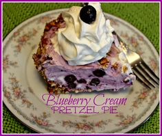 Sweet Tea and Cornbread: Blueberry Cream Pretzel Pie!