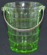 Depression Green Glass Tearoom Ice Bucket