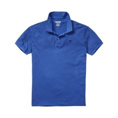 Scotch and Soda Washed Blue Basic Pique Short Sleeved Polo Shirt -   The Scotch and Soda garment dyed polo is available in 3 vintage colours