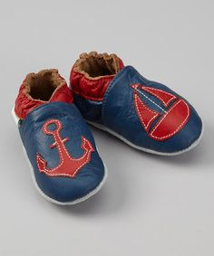 Another great find on #zulily! Navy Nautical Booties by MOMO Baby #zulilyfinds