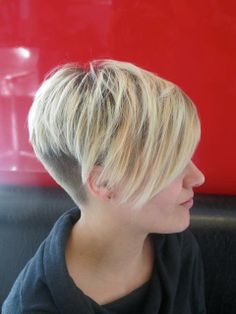 Short pixie with long bangs