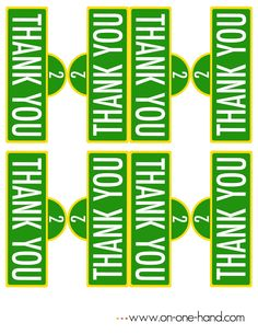 On One Hand : Free Sesame Street Sign Favor Printable