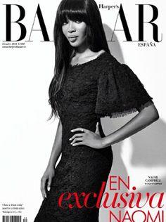 Naomi Campbell for Harper's Bazaar Spain October 2013