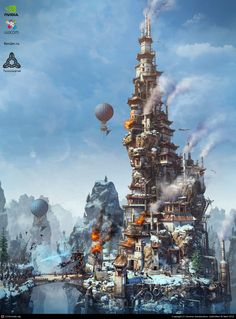 Steam Mage Tower | CGPortfolio - Andrey Serebryakov | via 亗 Dr. Emporio Efikz 亗