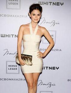 Herve Leger White Dress - Bandage Evening Sling Halter Section $125.29