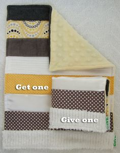 Baby Sensory Security Blanket Lovey -sunshine on a cloudy day -Get One, Give One to babies in Kenya, Africa, $30.00