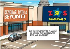 Pick a Scandal, Any Scandal | Capitol Quip by R.J. Matson #politics #politicalcartoons