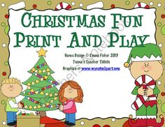 Christmas Fun Print and Play Math 20 Centers Games Low INK from Teenas Teacher Tidbits on TeachersNotebook.com -  (25 pages)  - Christmas is right around the corner. Low ink, kindergarten skills ready to use in your homeschool or classroom.