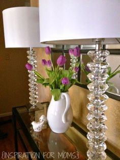 Laura of Inspiration for Moms used two of our Dimond Modena lamps to accent a table in her living room, and they look great! Read all about it on her blog: http://www.inspirationformoms.com/2014/05/lamps-for-me-showerhead-for-you.html