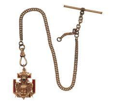 14 Karat Gold Masonic, Presentation Watch Fob (11/15/2013 - American History: Live Salesroom Auction)