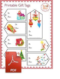 #Elf On The Shelf #Printable Gift Tags | Santas Office