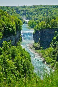 Waterfall, Letchworth, New York