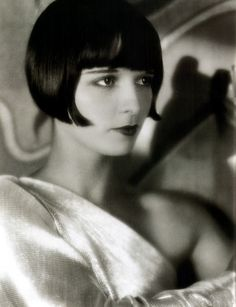 Louise Brooks was a moviestar in the 1920's.  I love the bob.