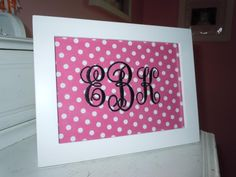 Framed Monogram (via LaTda)