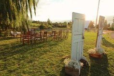Keep that 'surprise' element in an outdoor wedding. #rusticwedding #weddingideas