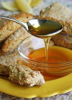 honey & lemon oat scones