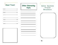Solar System Travel Brochure