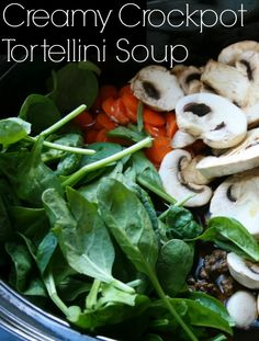 Creamy Crockpot Tortellini Soup   This has been called heaven in a bowl…