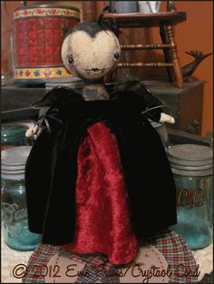 primit halloween, vampir bat, bat art, bats, halloween goth, primit decor, goth vampir, art dolls, prim halloween