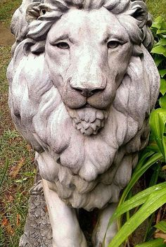 Lion statue at Hammond Castle, Gloucester MA