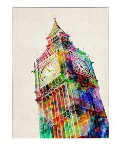 Big Ben Gallery-Wrapped Canvas by Michael Tompsett on #zulily