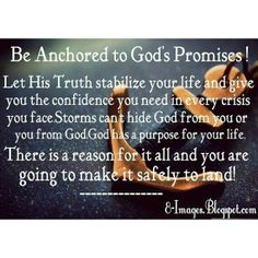 Be anchored to God's Promises!